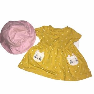 Carter Dress 3 month and Infant Sun Hat